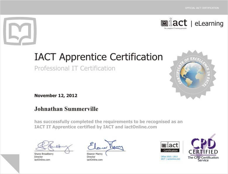 certification | iact online australia