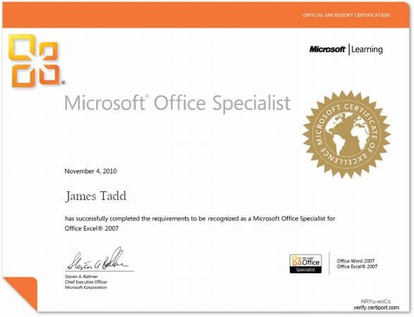 MOS-Certificate-Core