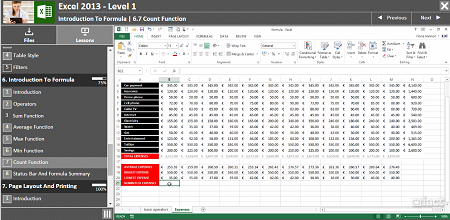 Excel 2013 Level 1 - Demo